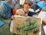 Family from Sacramento, heading to Occupy Santa Cruz