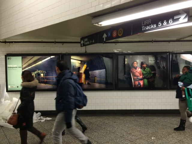 A view of the images at the Atlantic Avenue Station.